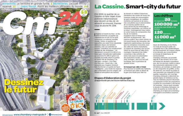 Aménagement du nouveau quartier « Smart-City » de la Cassine à CHAMBERY
